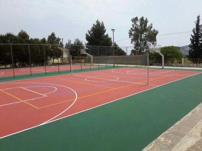 Ανακατασκευή αθλητικών εγκαταστάσεων σχολείων Δήμου Παλλήνης