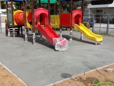 Ανακατασκευή παιδικών χαρών Γέρακα