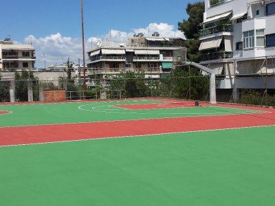 Ανακατασκευή τάπητα γηπέδων καλαθοσφαίρισης Δήμου Παπάγου-Χολαργού