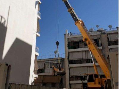 Επισκευή και ενίσχυση υποστυλωμάτων υπογείου πολυκατοικίας στο Γαλάτσι