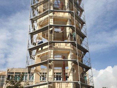 Επισκευή πύργου ασκήσεων Πυροσβεστικής Ακαδημίας