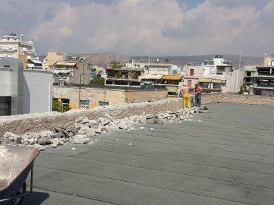 Επισκευή και αποκατάσταση βλαβών σε δομικά στοιχεία του κτιρίου των Α΄ Υλών του 700 ΣΕ