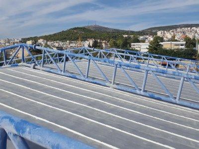 Επισκευή υγρομόνωσης κλειστού γυμναστηρίου καλαθοσφαίρισης Χωράφας Δήμου Περιστερίου