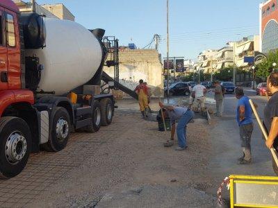 Εργασίες ανακατασκευής κοινοχρήστων χώρων στον Δήμο Περιστερίου