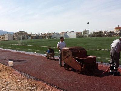 Εργασίες βελτίωσης του γηπέδου ποδοσφαίρου Γέρακα