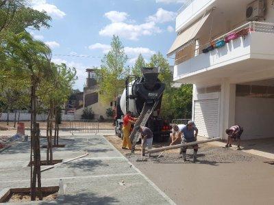 Κατασκευή νέου πεζοδρόμου στον Δήμο Περιστερίου