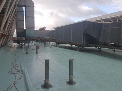 Στεγανοποίηση οροφής του κλειστού γυμναστηρίου μπάσκετ του ΟΑΚΑ