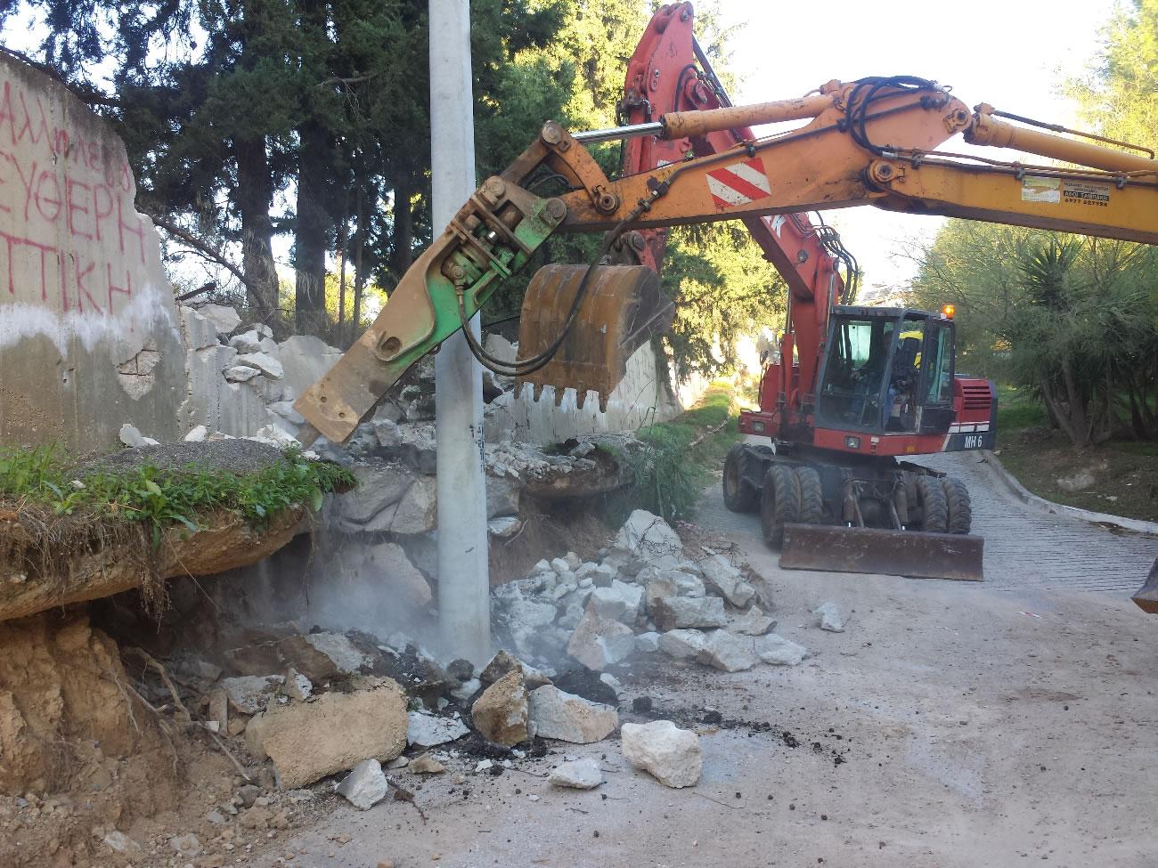 Επείγουσες εργασίες αποκατάστασης ζημιών Δήμου Περιστερίου