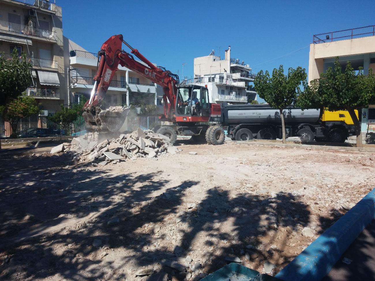 Επισκευή αύλειων χώρων σχολικών κτιρίων Δήμου Γαλατσίου